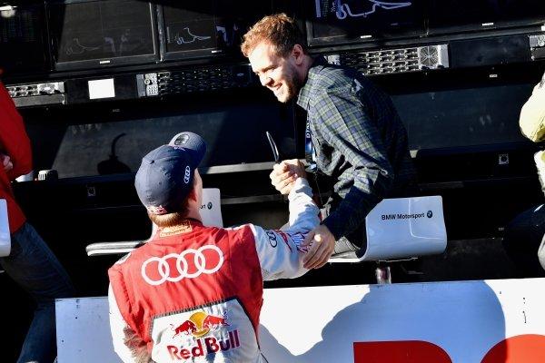 Sebastian Vettel (GER) with brother Fabian Vettel (GER) at Audi Sport TT Cup, DTM Championship, Hockenheim, Germany, 14-15 October 2017.