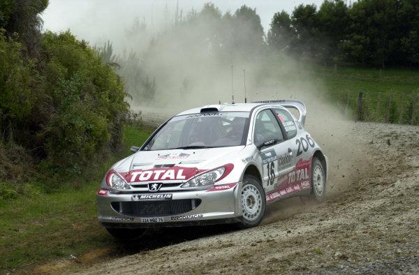 2001 World Rally Championship.Rally of New Zealand. September 20-23, 2001.Auckland, New Zealand.Harri Rovanpera during shakedown.Photo: Ralph Hardwick/LAT