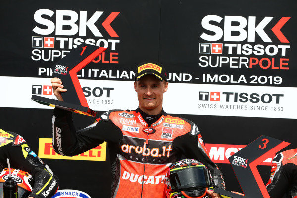 Chaz Davies, Aruba.it Racing-Ducati Team takes pole.
