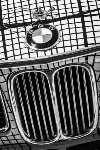 Detail of the 1976 BMW Art Car by Frank Stella that raced at Le Mans