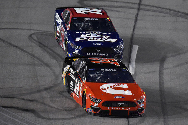 #14: Chase Briscoe, Stewart-Haas Racing, Ford Mustang Cummins/Rush Truck Centers and #78: B.J. McLeod, Live Fast Motorsports, Ford Mustang Keen Parts