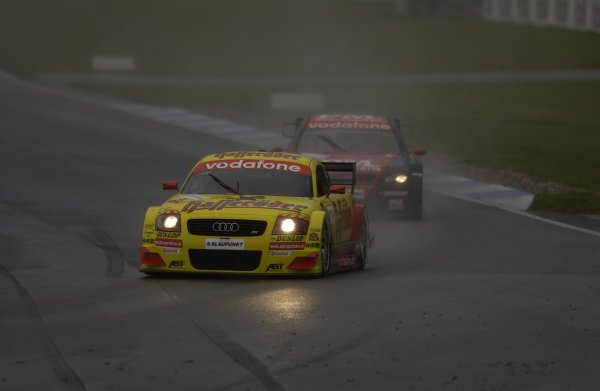 2002 DTM Championship.Hockenheim, Germany. 5-6 October 2002.Laurent Aiello (Abt Audi TT-R) dropped back to 6th position in the rain.World Copyright - Andre Irlmeier/LAT Photographic