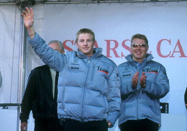 2001 Stars and Cars WeekendStuttgart, Germany. 3rd - 4th Novenber 2001.Kimi Raikkonen - portrait.World Copyright: Westref: Digital Image Only.