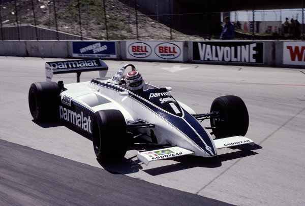 1982 United States Grand Prix West.Long Beach, California, USA.2-4 April 1982.Nelson Piquet (Brabham BT49D Ford).Ref-82 LB 43.World Copyright - LAT Photographic