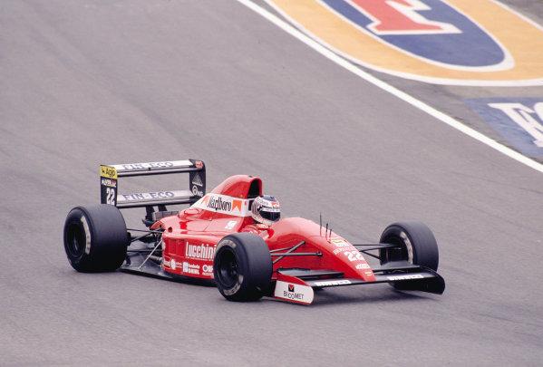 1991 San Marino Grand Prix.Imola, Italy.26-28 April 1991.J J. Lehto (Scuderia Italia/Dallara 191 Judd) 3rd position.Ref-91 SM 40.World Copyright - LAT Photographic