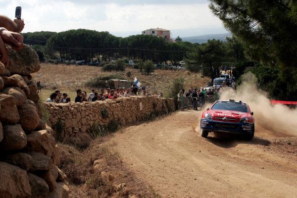 2004 FIA World Rally Champs. Round thirteen, Rally Italia Sardinia.30th September - 3rd October 2004.Sebastien Loeb, Citroen, actionWorld Copyright: McKlein/LAT