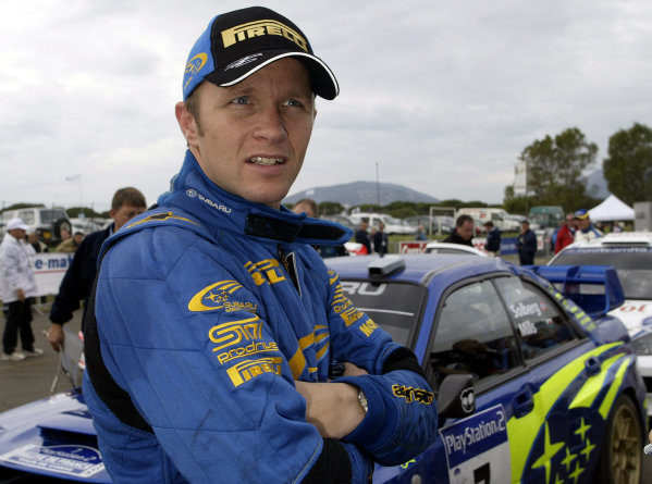 2003 FIA World Rally Champs. Round Twelve Corsica Rally 16th-19th October 2003.Petter Solberg Subaru, portrait.World Copyright: McKlein/LAT