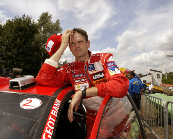 2003 FIA World Rally Champs. Round eight, Deutschland Rally24th-27th July 2003.Marcus Gronholm, Peugeot, portrait. World Copyright: McKlein/LAT