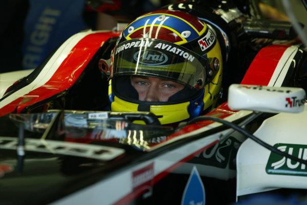 2003 German Grand Prix, Friday Qualifying, Hockenheim, Germany.1st August 2003.Nicolas Keisa, Minardi, Portrait.World Copyright LAT Photographic.Digital Image Only.