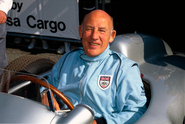 Goodwood Estate, West Sussex. 7th - 9th July 2006.Stirling Moss in the W196 Mercedes Benz, portrait. World Copyright: Jeff Bloxham?LAT Photographic.Ref: Digital Image Only.
