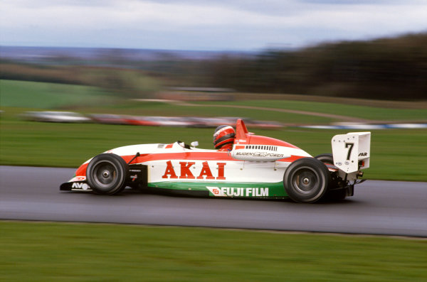 Donington Park, Leicestershire, England. 22nd March 1992.Marcel Albers (Ralt RT36-Mugen Honda), 1st position, action. World Copyright: LAT PhotographicRef:  92DON01.