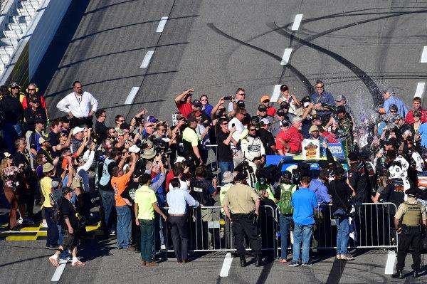 28-29 October, 2016, Martinsville, Virginia USA Johnny Sauter celebrates after winning. ©2016, John Harrelson / LAT Photo USA