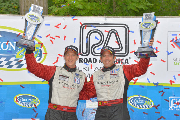 9-11 August, 2013, Elkhart Lake, Wisconsin USA #45 Flying Lizard Motorsport wins GTC class with Spencer Pumpelly and Nelson Canache ©Dan R. Boyd LAT Photo USA