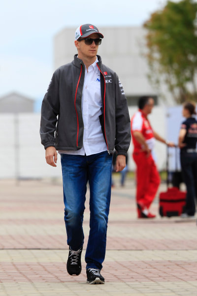 Korea International Circuit, Yeongam-Gun, South Korea. Sunday 6th October 2013. Nico Hulkenberg, Sauber F1. World Copyright: Charles Coates/LAT Photographic. ref: Digital Image _X5J0597