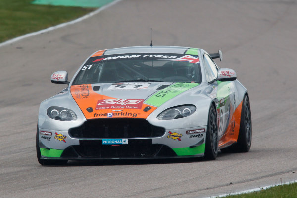 2015 British GT Championship, Rockingham, 2nd-3rd May 2015, Jade Edwards / White Stratton Aston Martin GT4 Challenge  Worl copyright. Jakob Ebrey/LAT Photographic