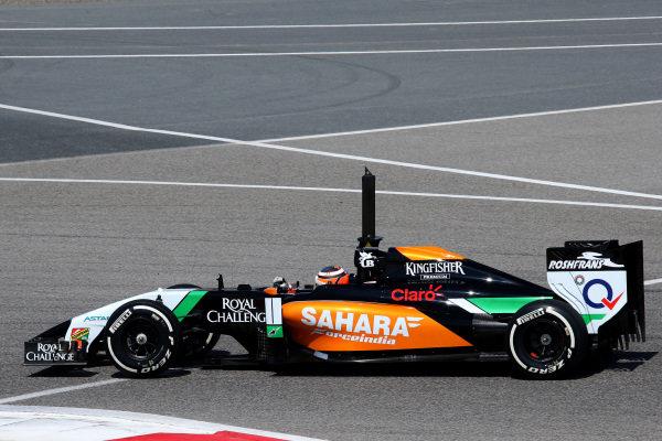 Nico Hulkenberg (GER) Force India VJM07. Formula One Testing, Day One, Bahrain International Circuit, Sakhir, Bahrain, Wednesday 19 February 2014.