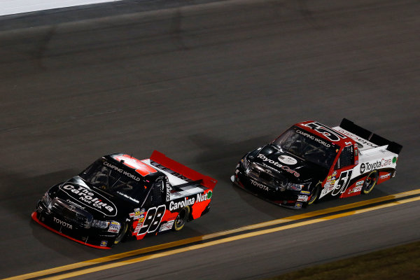21-23 February, 2013, Daytona Beach, Florida, USA Subject:  Johnny Sauter leads Kyle Busch.(c) 2013, Michael L. Levitt LAT Photo USA