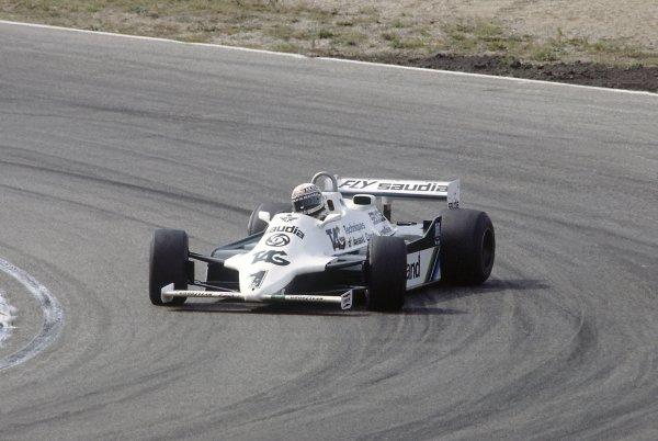 1981 Belgian Grand PrixZolder, Belgium. 15-17 May 1981.Alan Jones (Williams FW07C-Ford Cosworth), retired. Ref - 81BEL30.World Copyright - LAT Photographic
