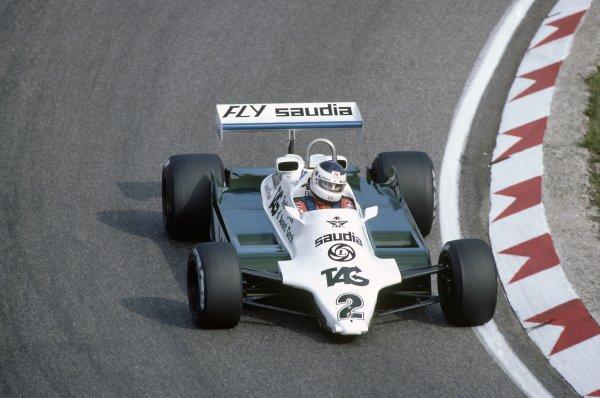 1981 Dutch Grand PrixZandvoort, Holland. 28-30 August 1981.Carlos Reutemann (Williams FW07C-Ford Cosworth), retired. Ref - 81HOL06.World Copyright - LAT Photographic