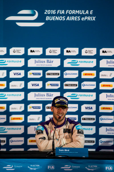 2015/2016 FIA Formula E Championship. Buenos Aires ePrix, Buenos Aires, Argentina. Saturday 6 February 2016. Sam Bird (GBR), DS Virgin Racing DSV-01. Photo: Zak Mauger/LAT/Formula E ref: Digital Image _L0U1764