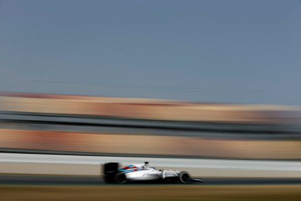 Circuit de Catalunya, Barcelona, Spain Monday 22 February 2016. Valtteri Bottas, Williams FW38 Mercedes. World Copyright: Glenn Dunbar/LAT Photographic ref: Digital Image _89P4299