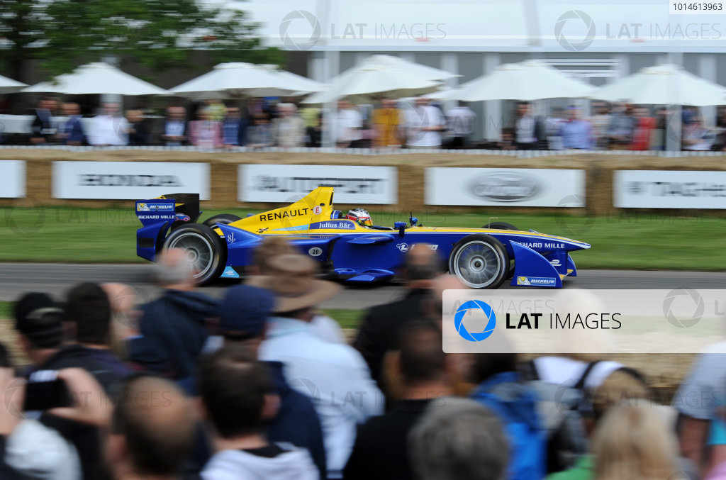 2016 Goodwood Festival of Speed Goodwood Estate, West Sussex,England 23rd - 26th June 2016 Charles Pic Formula E World Copyright : Jeff Bloxham/LAT Photographic Ref : Digital Image