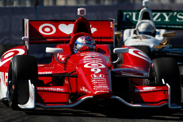 14 July, 2013,  Toronto, Ontario, CAN Scott Dixon leads Ed Carpenter ©2013, Phillip Abbott LAT Photo USA