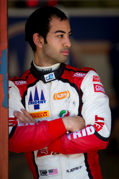 Circuit de Barcelona Catalunya, Barcelona, Spain. Wednesday 15 March 2017. Nabil Jeffri, (MAS, Trident). Portrait.  Photo: Alastair Staley/FIA Formula 2 ref: Digital Image 585A0064