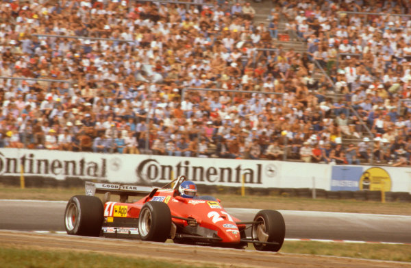 Hockenheim, Germany.6-8 August 1982.Patrick Tambay (Ferrari 126C2) 1st position.Ref-82 GER 04.World Copyright - LAT Photographic