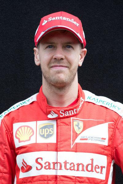 Sebastian Vettel (GER) Ferrari at Formula One World Championship, Rd1, Australian Grand Prix, Preparations, Albert Park, Melbourne, Australia, Thursday 12 March 2015.