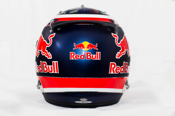 Circuito de Jerez, Jerez, Spain. Tuesday 3 February 2015. Helmet of Daniil Kvyat, Red Bull Racing.  World Copyright: Red Bull Racing (Copyright Free FOR EDITORIAL USE ONLY) ref: Digital Image 2015_RED_BULL_HELMET_15