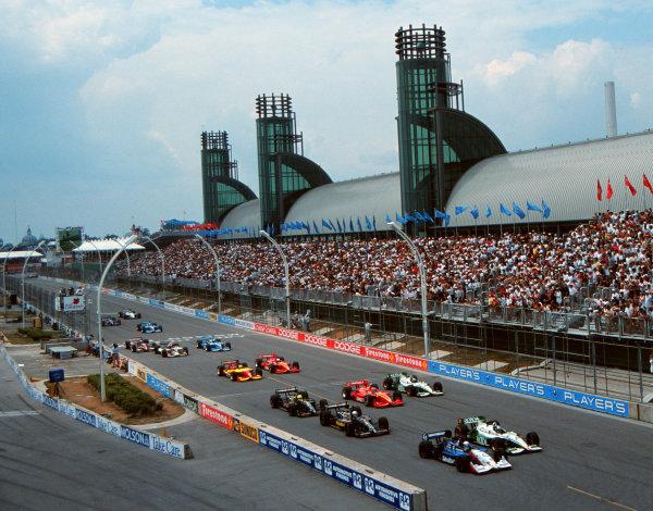 1999 CART Toronto G P.The CART drivers take the green flag-1999, Michael L. Levitt, USALAT PHOTOGRAPHIC