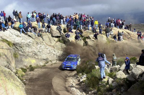 2001 World Rally Championship. ArgentinaMay 3rd-6th, 2001Richard Burns on stage 20.Photo: Ralph Hardwick/LAT