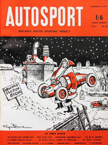 Cover of Autosport magazine, 26th December 1952