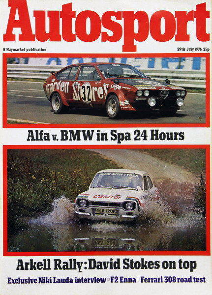 Cover of Autosport magazine, 29th July 1976