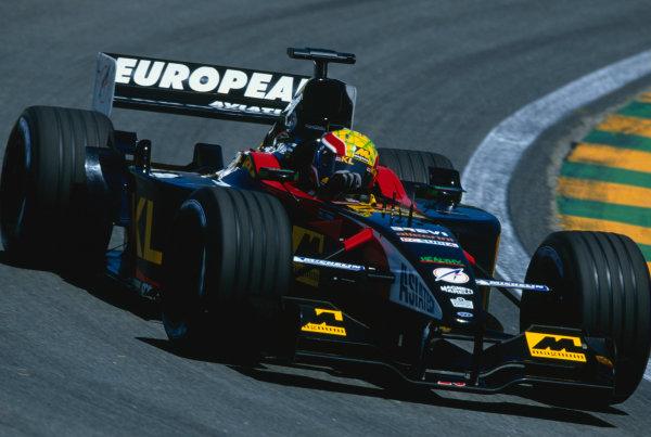2002 Brazilian Grand Prix.Interlagos, Sao Paulo, Brazil. 29-31 March 2002.Mark Webber (Minardi PS02 Asiatech).Ref-02 BRA 62.World Copyright - Clive Rose/LAT Photographic
