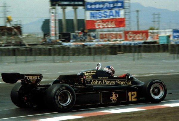Caesar's Palace, Las Vegas, Nevada, USA. 23-25 September 1982. Nigel Mansell (Lotus 91-Ford Cosworth). Ref: 82LV17. World Copyright - LAT Photographic