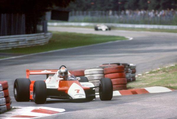 1982 German Grand Prix.Hockenheim, Germany. 8 August 1982.John Watson, McLaren MP4/1B-Ford, retired, action.World Copyright: LAT PhotographicRef: 35mm transparency 82GER