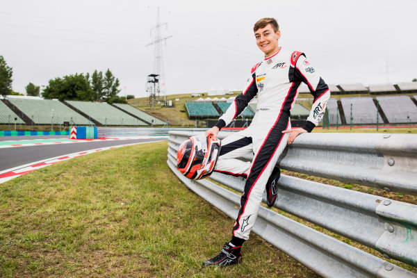 2017 GP3 Series Round 4.  Hungaroring, Budapest, Hungary. Thursday 27 July 2017. George Russell (GBR, ART Grand Prix).  Photo: Zak Mauger/GP3 Series Media Service. ref: Digital Image _56I0108