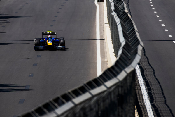 2017 FIA Formula 2 Round 4. Baku City Circuit, Baku, Azerbaijan. Friday 23 June 2017. Nicholas Latifi (CAN, DAMS)  Photo: Zak Mauger/FIA Formula 2. ref: Digital Image _54I9600