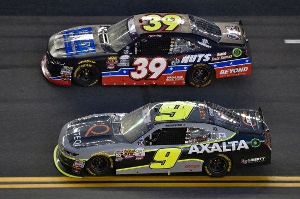 NASCAR XFINITY Series Coca-Cola Firecracker 250 Daytona International Speedway, Daytona Beach, FL USA Friday 30 June 2017 William Byron, AXALTA / Vorteq Chevrolet Camaro and Ryan Sieg, RSS Racing Chevrolet Camaro World Copyright: Nigel Kinrade LAT Images
