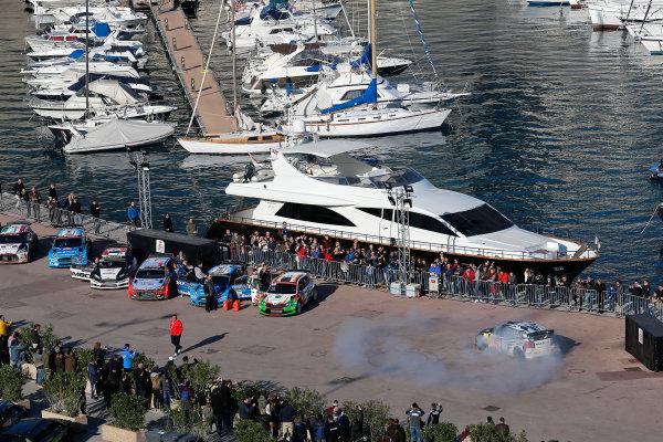 2016 World Rally Championship, Round 01, Rally Monte Carlo, 21st - 24th January, 2016 Sebastien Ogier, VW, celebration  Worldwide Copyright: McKlein/LAT