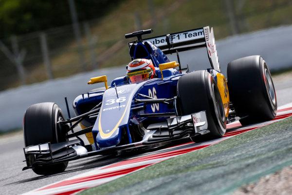 Circuit de Catalunya, Barcelona, Spain. Wednesday 13 May 2015. Raffaele Marciello, Sauber C34 Ferrari.  World Copyright: Alastair Staley/LAT Photographic. ref: Digital Image _79P5100
