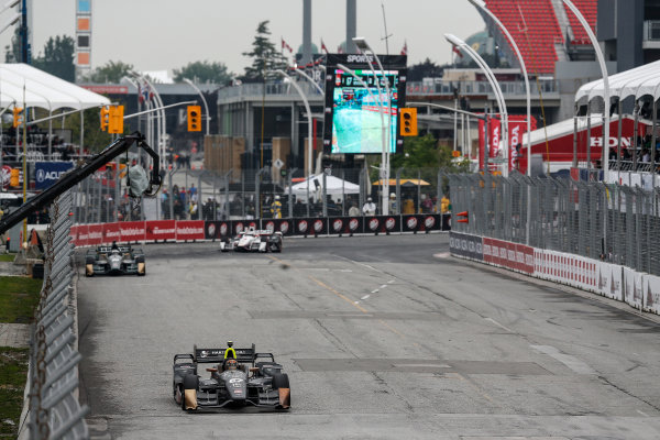 11-14 June, 2015, Toronto, Ontario, Canada Winner Josef Newgarden leads Luca Filippi and Helio Castronves ©2015, Michael L. Levitt LAT Photo USA