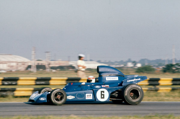 1973 Argentinian Grand Prix.  Buenos Aires, Argentina. 26-28th January 1973.  Jackie Stewart, Tyrrell 005 Ford, 3rd position.  Ref: 73ARG32. World Copyright: LAT Photographic