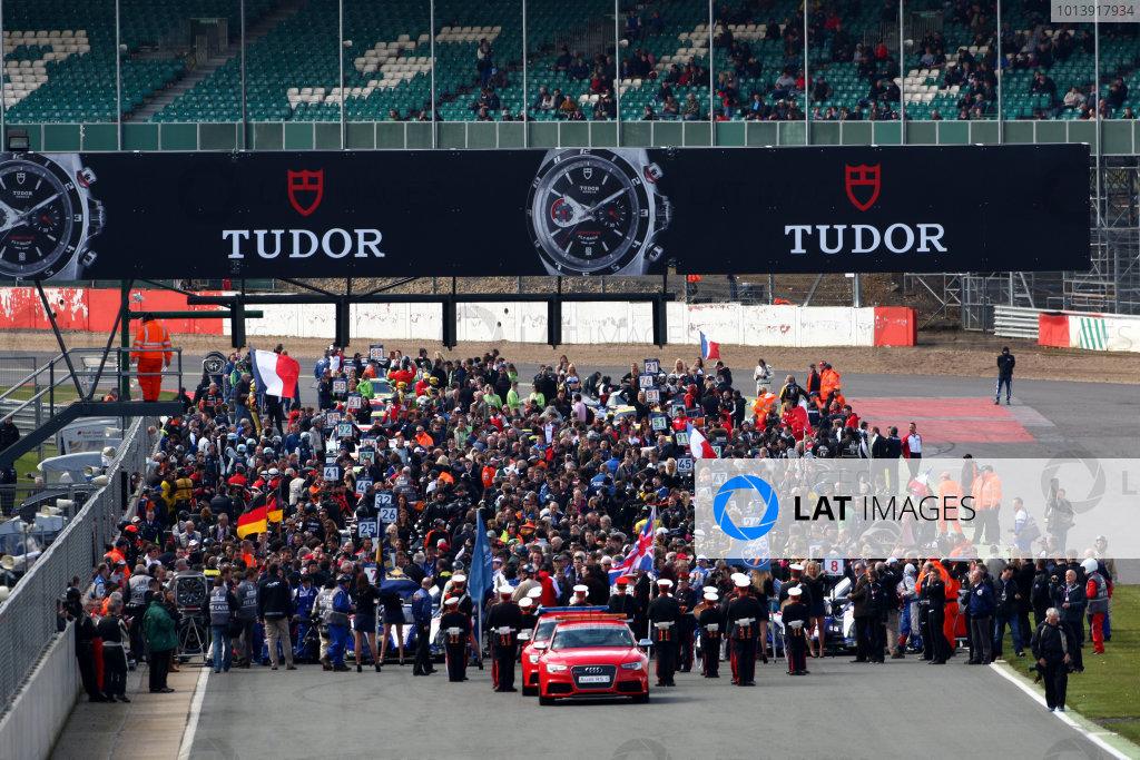 2013 FIA WEC Championship, Silverstone, Northamptonshire. 12th - 14th April 2013. WEC Grid World Copyright: Ebrey / LAT Photographic.