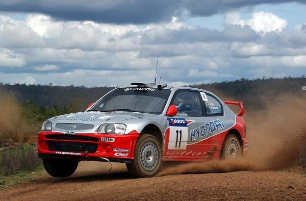 Freddy Loix (BEL) / Sven Smeets (BEL) Hyundai Accent WRC.