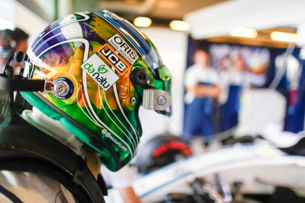 Yas Marina Circuit, Abu Dhabi, United Arab Emirates. Saturday 25 November 2017. Felipe Massa, Williams Martini Racing.  World Copyright: Glenn Dunbar/LAT Images  ref: Digital Image _31I6661