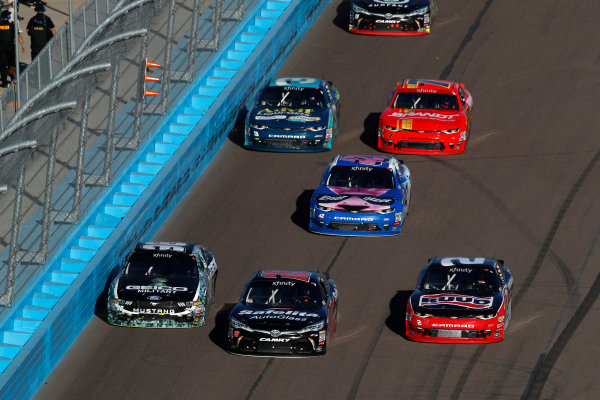NASCAR XFINITY Series Ticket Galaxy 200 Phoenix Raceway, Avondale, AZ USA Saturday 11 November 2017 Jeff Green, RSS Racing Chevrolet Camaro, Christopher Bell, Safelite Toyota Camry, Austin Dillon, Rheem / WATTS Chevrolet Camaro World Copyright: Michael L. Levitt LAT Images