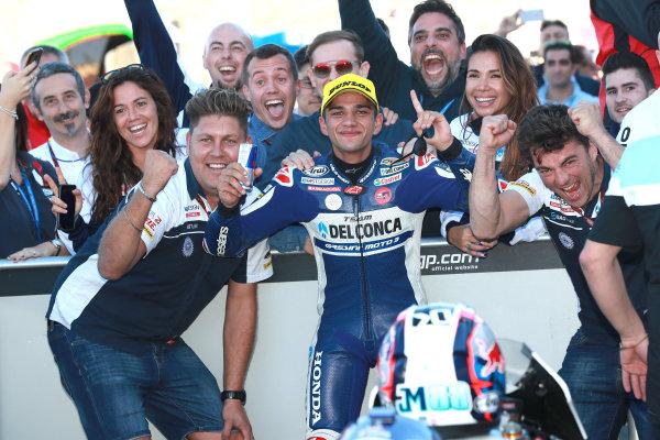 2017 Moto3 Championship - Round 18 Valencia, Spain  Sunday 12 November 2017 Race winner Jorge Martin, Del Conca Gresini Racing Moto3  World Copyright: Gold and Goose Photography/LAT Images  ref: Digital Image 705975